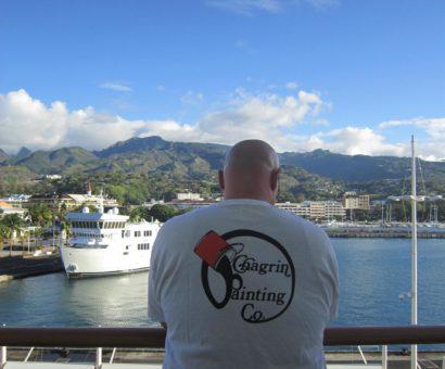 Leaving Tahiti